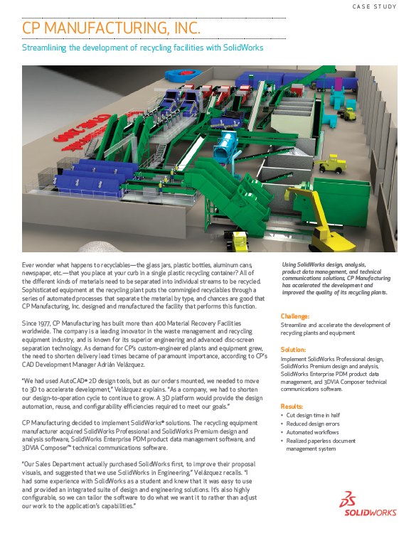 CP Manufacturing and SolidWorks Case Study