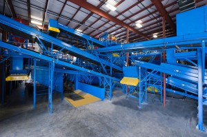 single stream recycling conveyors